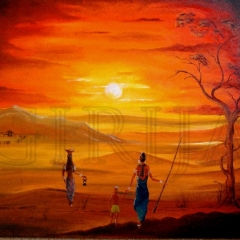 African Sunset 24_ X24_ SOLD