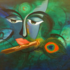 Sound of Flute 24_ X 30_ SOLD